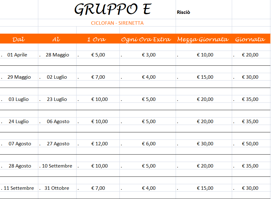 SDB Motors - Favignana rickshaws rental price list